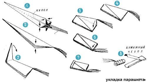 Как сделать летающий парашют 893