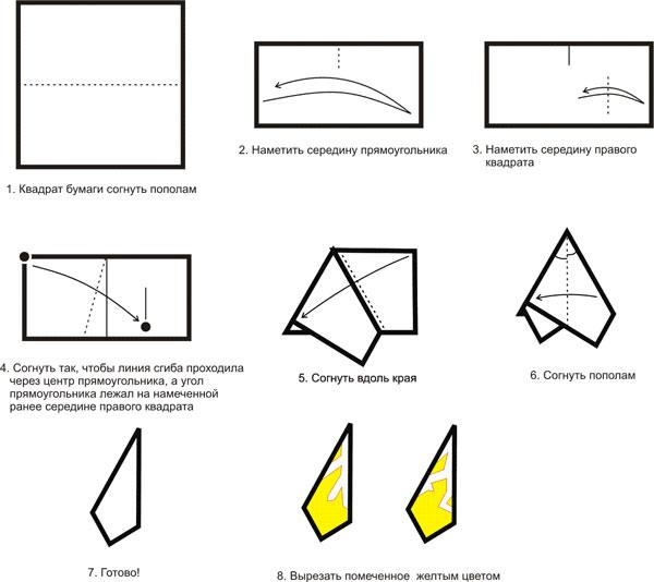 Снежинки из листа бумаги как сделать