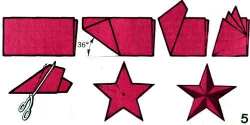 Как сделать звезду на елку своими руками пошагово